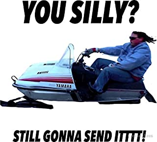 LA STICKERS You Silly Still Gonna Send it Funny Meme Shirt - Sticker Graphic - Auto, Wall, Laptop, Cell, Truck Sticker for Windows, Cars, Trucks