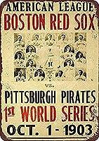 Red Sox Pirates 金属板ブリキ看板警告サイン注意サイン表示パネル情報サイン金属安全サイン