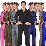 Elite Sports BJJ GI for Men IBJJF Kimono BJJ Jiujitsu GIS W/Preshrunk Fabric & Free Belt (See Special Sizing Guide) (Premium Black, Size1)