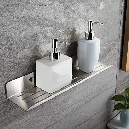 ZUNTO 3m Bathroom Shelf/Shower Caddy – Shower Shelf Self Adhesive (No Drilling) Kitchen Storage Shelf Wall Mounted, Stainless Steel SUS 304