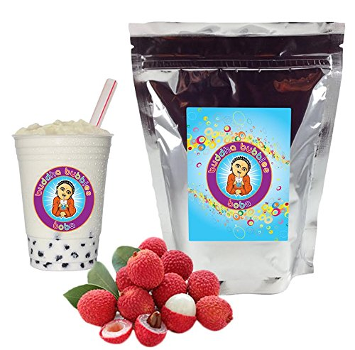Lychee Boba / Bubble Tea Drink Mix Powder By Buddha Bubbles Boba 10 Ounces (283 Grams)
