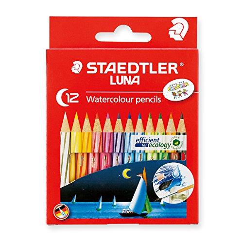 Staedtler Watercolor Pencils Luna 12 Color Set Short 1371001C12