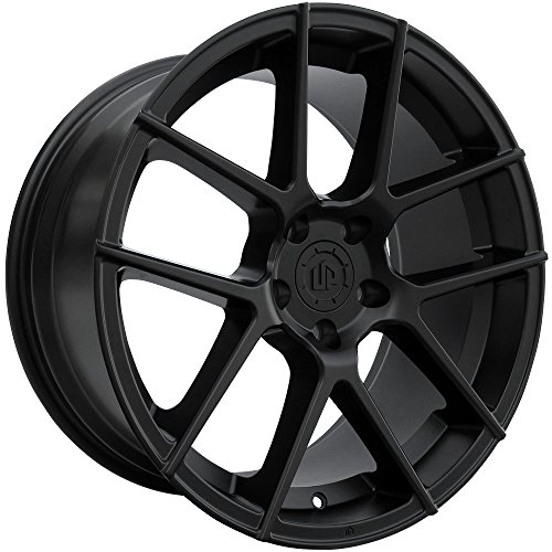 19' UP520 Staggered Wheels Set fits Mercedes Benz Audi or Volkswagen in Matte Black 19x8.5 and 19x9.5 UP Wheels Rims 5x112 +35 +40 by Ultimate Performance Wheels