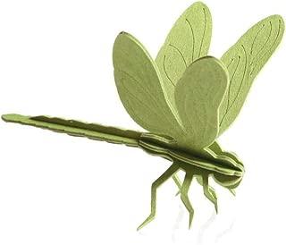 LOVI Dragonfly 3D Puzzle - Green Wood - Postcard - 10 cm