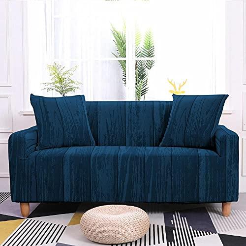 Fundas para Sofa 4 Plazas Azul Oscuro Fundas para Sofa Universal,Cubre Sofa Ajustables,Fundas Sofa Elasticas,Funda de Sofa Chaise Longue,Protector Cubierta para Sofá