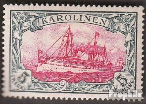 Prophila Collection Carolinas (alemán.Colonia) Michel.-No..: 19 1901 Barco yate del Emperador Hohenzollern...
