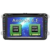 AWESAFE Android 8.1 Autoradio Doppel-DIN DVD Player für VW mit GPS NAVI Unterstützt Bluetooth DAB+ Radio WLAN, FM RDS Radioempfang