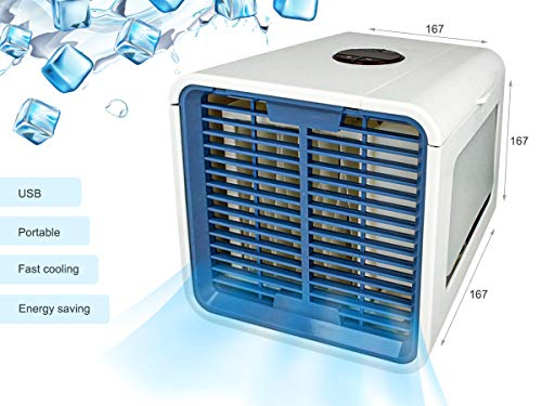 LEDLUX ESE017 Mini Condizionatore Ventilatori Portatile Climatizzatore Umidificatore Ad Acqua Con USB Air Cooler Dispositivo di Raffreddamento