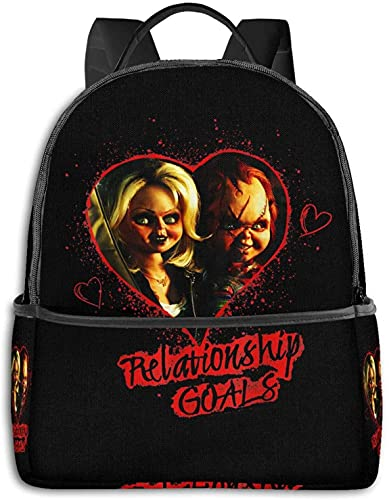 Bride of Chucky Womens Backpack Multifunction School Bags for Childrens Lunch Handbags