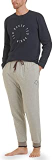 Ted Baker Mens 2021 Long Sleeve Lounge Cotton Jersey Luxury Pyjama Gift Set