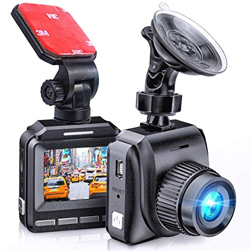 Latest 2020 Dash Cam for Cars 60 FPS 1920x1080p with IR Night Vision 1080P FHD Mini in Car Camera 170° Wide Angle Driving Recorder with G-Sensor, Parking Monitor Dashcam, Full HD, WDR, 2 Mounts Audio Cameras Car On-Dash