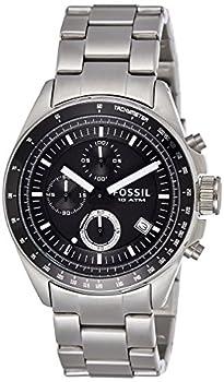 Fossil Men s Decker Quartz Stainless Chronograph Watch Color  Silver  Model  CH2600IE