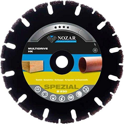 NOZAR Premium Diamantscheibe Multidrive HK 125 x 22,23 mm für Bauholz, Spanplatten, Dachpappe, Hartgummi, Hartkunststoffe