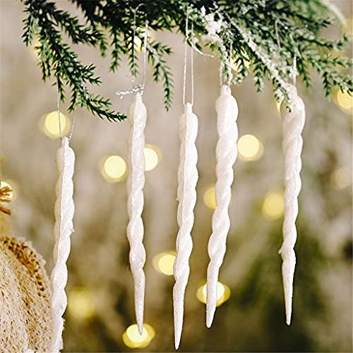 FENXIXI 10pcs Christmas Falso Icicle Prop Simulazione Ice Xmas Tree Appeso Ornamenti for Inverno Frozen Party Capodanno Decorazioni (Color : C, Size Shows)
