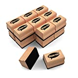 Show-me Mini Wooden-Handle Felt Erasers for Drywipe Boards and Chalkboards in Schools and Classrooms (Pack of 30)