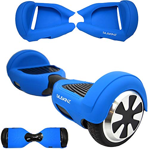 "SILISKINZ® 180 Grad Hoverboard Silikon Gelee Hülle - Für 6,5\""Swegway 2 Wheel Smart Scooter (BLAU)"