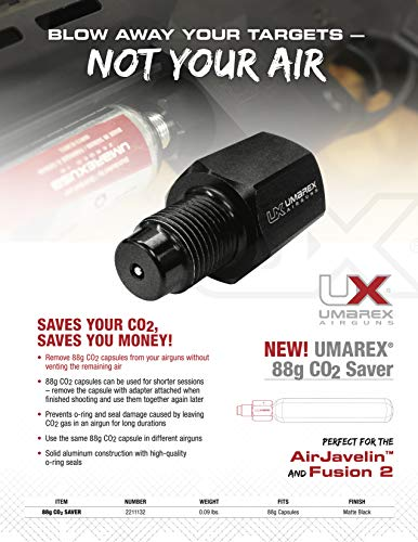 Umarex CO2 Saver Adapter for Airgun 88g CO2 Capsules