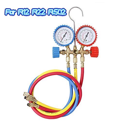 AC Diagnostische Manifold Gauge Set Koelmiddel Manifold Gauge Set A/C Koelmiddel Airconditioning Gereedschap met Slang en Haak fo R12 R22 R502