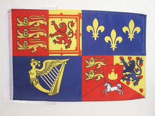 AZ FLAG Flagge DAS KÖNIGLICHE VEREINIGTE KÖNIGREICH 1714-1801 Haus VON Hannover 45x30cm mit Kordel - BRITISCHE Fahne 30 x 45 cm - flaggen Top Qualität