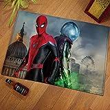 daerduotutu Marvel Spiderman Alfombra de Piso Sala de Estar baño...