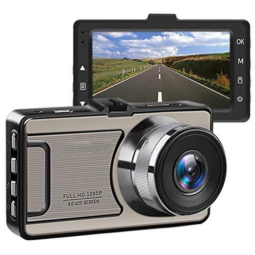 Caméras de tableau bord avant et arrière 1080p, caméra voiture grand angle 170 degrés avec écran ACL haute définition 3 pouces, WDR, enregistrement en boucle, moniteur stationnement