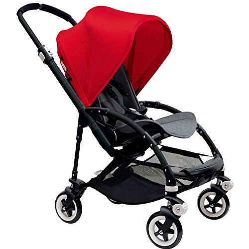 Find Bargain Bugaboo Bee 3 Black Frame Stroller With Grey Melange Seat (Red)