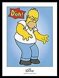 1art1 Die Simpsons Poster Kunstdruck und MDF-Rahme