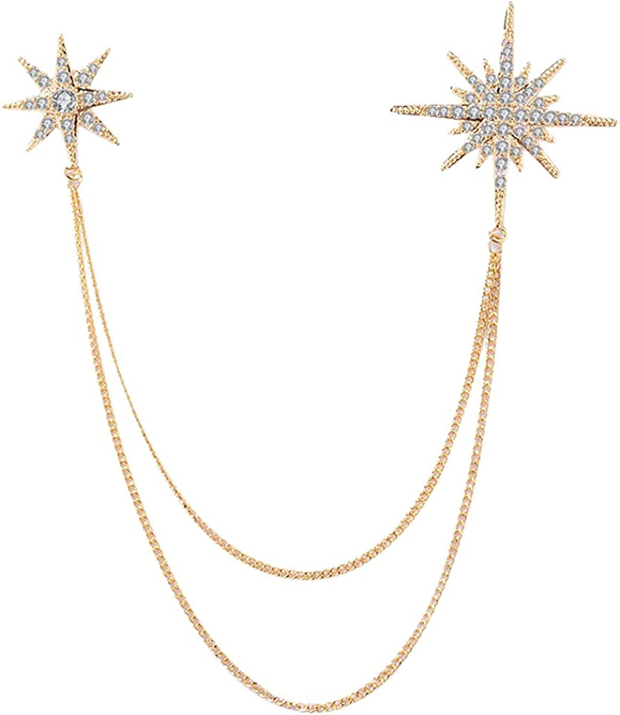 CNCbetter Shining Star Costume Jewelry Department store Z and Cubic Pins Popular products Brooches