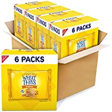 Wheat Thins Original Whole Grain Wheat Crackers, 24 Total Snack Packs, 4 Boxes