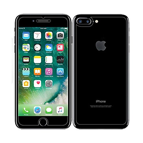 iPhone 8 Plus/iPhone 7 Plus Front and Back Screen Protector 2-Pack, DGBAY Front + Back Rear Tempered Glass Anti Scratch/Bubble Free [9H Hardness 0.26 mm 2.5D] Premium Ultra-Clear Case Cover