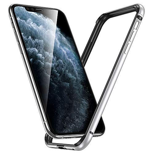 ESR Bumper Case Compatible for iPhone 11 Pro Max, Metal Frame Armor with Soft Inner Bumper [Zero Signal Interference] [Raised Edge Protection] for iPhone 11 Pro Max 6.5(2019), Silver