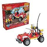 Mega Construx SUV Rescate, construye tu propio SUV y escenas de rescate, coche de juguete (Mattel GLK53)