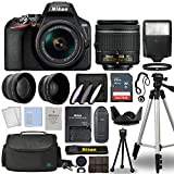 Nikon D3500 Digital SLR Camera Body with Nikon Nikkor 18-55mm AF-P DX f/3.5-5.6G VR Lens DSLR Kit Bundled with Complete Accessory Bundle + 64GB + Flash + Case & More - International Model