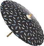 Sourpuss Schirm Fledermaus Sonnenschirm Schwarz