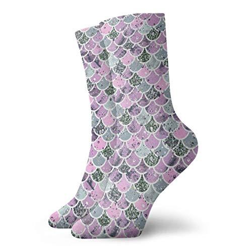 BJAMAJ - Calcetines Unisex de algodón con diseño de balanza de Colores Rosas