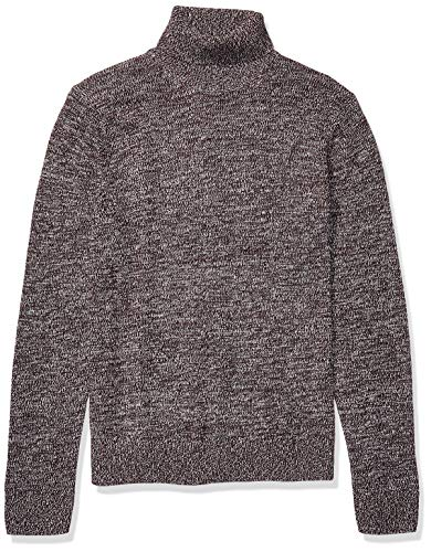 Amazon Brand - Goodthreads Men's Supersoft Marled Turtleneck Sweater, Burgundy X-Large