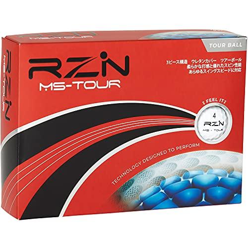 RZN Golf ゴルフボール 3ピース MS-TOUR 1ダース(12個入り) レジンゴルフ 日本正規流通品