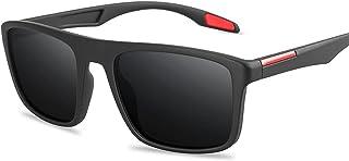 dingtian - Gafas de Sol Hombre Moda de Moda polarizada UV400 Rectangular Ultra Light Glasses Pesca de conducción al Aire Libre