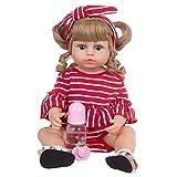 YIHANGG 55cm Muñecas Bebé Reborn Realistas Cuerpo Completo Muñecas Recién Nacidas De Pelo Dorado Juguetes Reborn para Niños Regalos De Cumpleaños