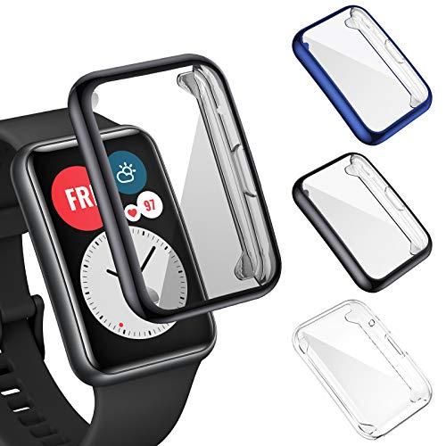 FITA 3 Piezas Funda Compatible Con Huawei Watch Fit/Elegant Edition
