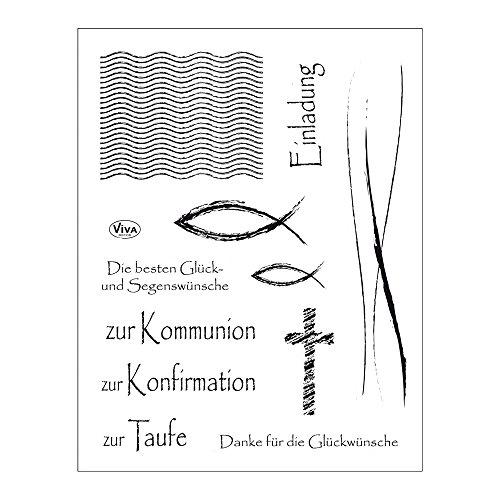 Viva Decor®️ Clear-Stamps (Christliche Feste) Silikon Stempel - Prägung Stempel - DIY Dekoration stanzen - Stempel Silikon - DIY Stamp - Stempel Prägung - Made in Germany