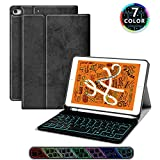 iPad Keyboard Case for iPad 7.9, JUQITECH Smart Case with Backlit...
