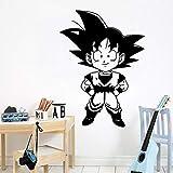 Tianpengyuanshuai Exquisito Arte de la Etiqueta de la Pared de Dibujos Animados de Son Goku para la habitación de los niños decoración del hogar Papel Pintado Mural 87X118cm