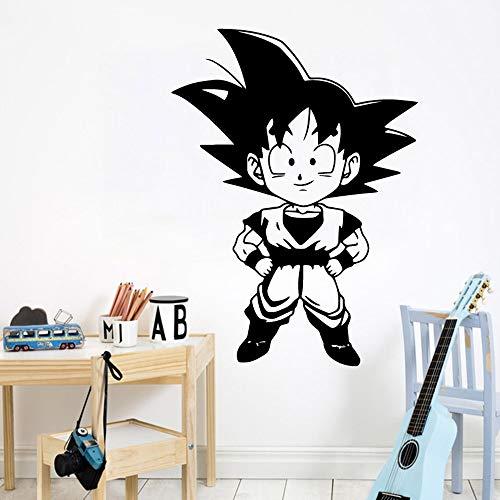 Tianpengyuanshuai Exquisito Son Goku Cartoon Wall Sticker Art para niños Habitación Decoración del hogar 104x142cm