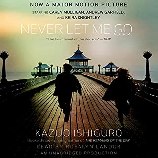 Never Let Me Go                   By:                                                                                                                                 Kazuo Ishiguro                               Narrated by:                                                                                                                                 Rosalyn Landor                      Length: 9 hrs and 40 mins     6,434 ratings     Overall 3.9