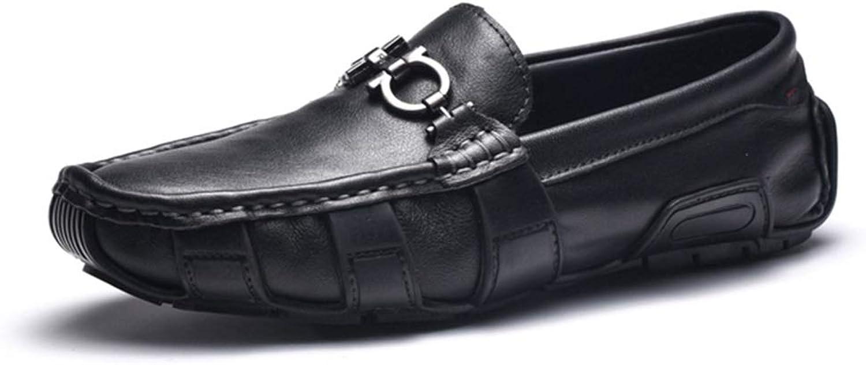 Easy Go Shopping Casual Driving Loafer Für Mnner Mode Flache Kleid Schuhe Mit Metallschnalle Penny Slip-on Komfortable Stiefelschuhe Oberleder,Grille Schuhe