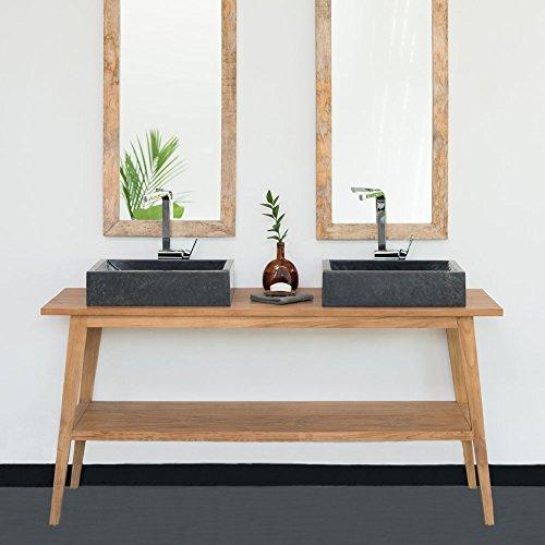 wohnfreuden Waschtisch Teak-Holz Titin 160x50x76 cm lasiert Natur