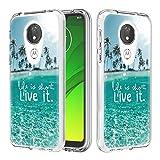 HiCASE Pro Custodia per Motorola Moto X5/Moto E5 Plus/Moto G7 Power, Custodia Trasparente Assorbimento Morbida Gel TPU Ultra Leggere Silicone Ultra Sottile Case Hard PC Bumper Cover