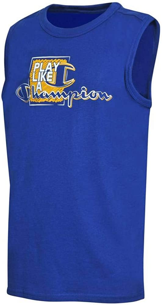 Champion Kids Tshirt Training Sports Fashion Running Boys Sleeveless 304891B New
