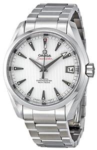 Omega Men's 23110392154001 Seamaster Aqua Terra White Dial Watch
